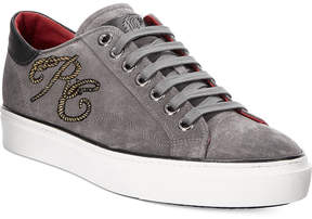 Roberto Cavalli Men's Suede Rc Logo Low-Top Sneakers Men's Shoes