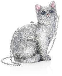 Judith Leiber Couture Marie Crystal Cat Clutch