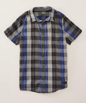 DKNY Dark Shadow City Tones Short-Sleeve Button-Up - Toddler & Boys