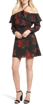 Cupcakes And Cashmere Women's Ruffle Off The Shoulder Dress