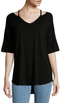 Cable & Gauge Cold Shoulder Top