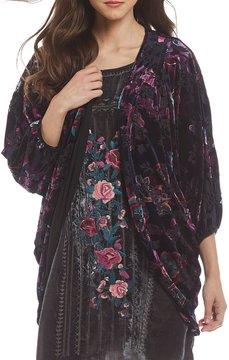 Chelsea & Theodore Velvet Cocoon Kimono