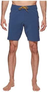 VISSLA Solid Sets Washed Four-Way Stretch Boardshorts 18.5 Men's Swimwear