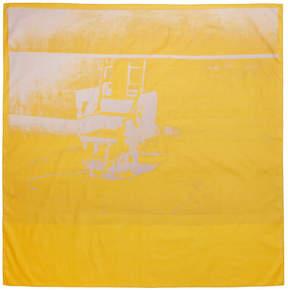 Calvin Klein Yellow Little Electric Chair Scarf