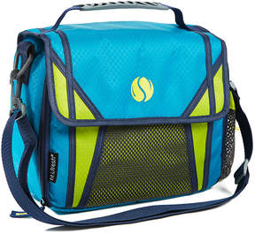 Fit & Fresh Teal Sport Messenger Insulated Lunch Bag