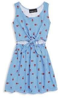 Un Deux Trois Girl's Gingham Sleeveless Dress