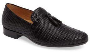 Mezlan Men's Turning Woven Tassel Loafer