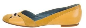 Marc by Marc Jacobs Leather Suede-Trimmed Flats