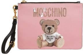 Moschino Teddy Bear Faux Leather Clutch