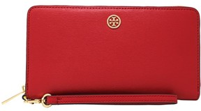 Tory Burch Women's Parker Zip Continental Leather Wallet - Cherry Apple - CHERRY APPLE - STYLE