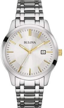 Bulova Classic 98B241 Silver Stainless Steel Analog Quartz Men's Watch