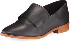 Neiman Marcus Smooth Leather Slip-On Loafer, Black