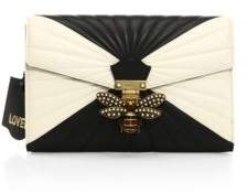 Gucci Quilted Leather Clutch - BLACK-WHITE - STYLE