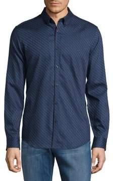 Calvin Klein Maze Cotton Casual Button-Down Shirt