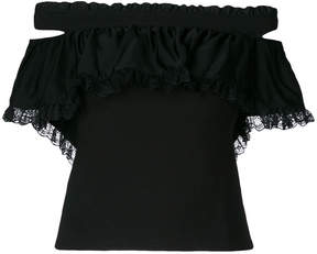 Diesel off-shoulder ruffle top
