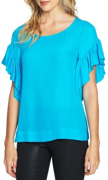 CeCe Women's Flutter Sleeve Top