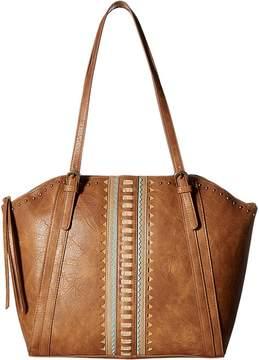 American West El Dorado Zip Top Bucket Tote Tote Handbags