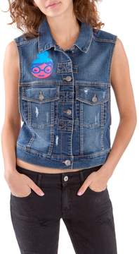 UNIONBAY Confetti Denim Vest | One-of-A-Kind