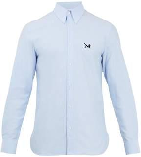 Calvin Klein Point-collar logo-embroidered cotton shirt