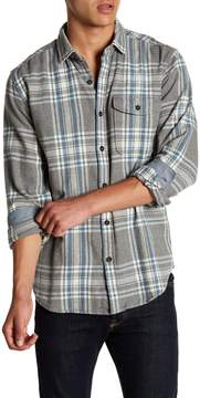 Jeremiah Marin Herringbone Flannel Plaid Shirt