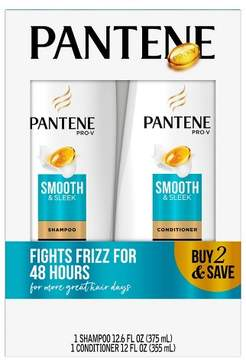 Pantene Pro-V Smooth & Sleek Shampoo & Conditioner Set - 24.6 fl oz