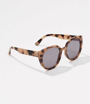 LOFT Tortoiseshell Print Cateye Sunglasses