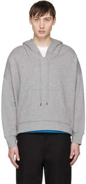 Opening Ceremony Grey Flocked Poncho Hoodie