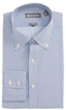 Michael Bastian Men's Trim Fit Paper Clip Print Dress Shirt