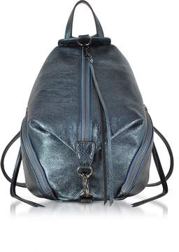 Rebecca Minkoff Octavio Blue Laminated Leather Medium Julian Backpack - ONE COLOR - STYLE