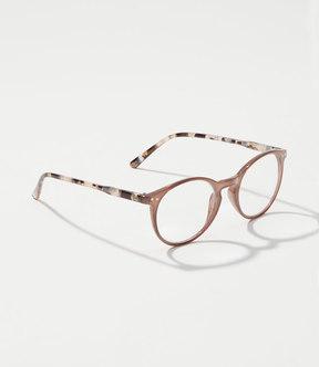 LOFT Marbleized Arm Round Keyhole Reading Glasses
