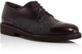 Canali Mixed Leather and Suede Captoe Derbys