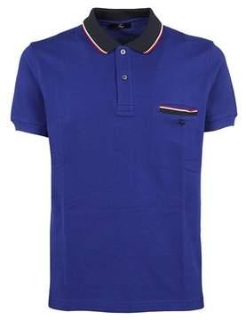 Fay Men's Npmb2361510hpau606 Blue Cotton Polo Shirt.