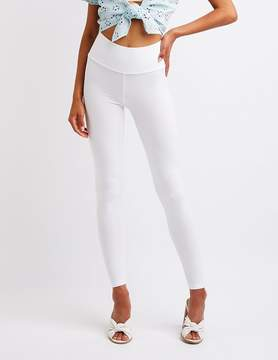Charlotte Russe Cropped Stretch Leggings