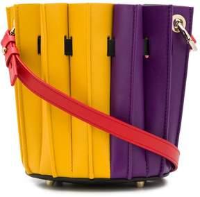 Sara Battaglia bicolour bucket tote