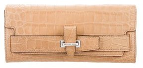 Michael Kors Embossed Leather Clutch - NEUTRALS - STYLE