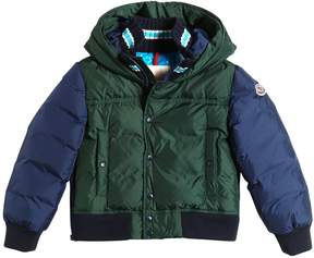 Moncler Luke Two Tone Nylon Down Jacket