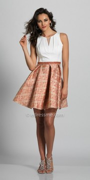 Dave and Johnny Pleated Scoop Back Fit and Flare Homecoming Dress