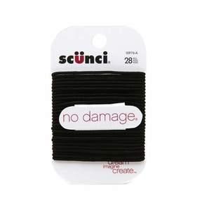 Scunci No Damage Elastics Hair Ties Medium Black