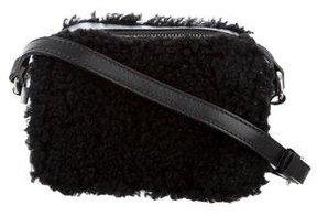 Sandro Aida Faux Shearling Crossbody Bag
