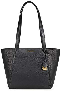 Michael Kors Small Whitney Pebbled Leather Tote- Black - ONE COLOR - STYLE
