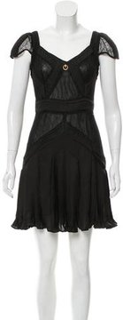 Class Roberto Cavalli Pleat-Accented Lace Dress