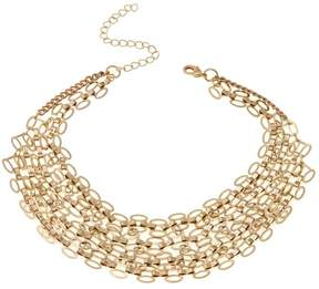 Danielle Nicole Sanoe Goldtone 4-Row Oval-Link 12-1/2 Collar Necklace