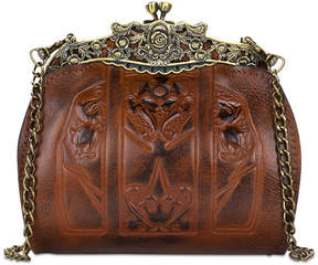 Patricia Nash Burnished Tooled Carmonita Small Frame Clutch