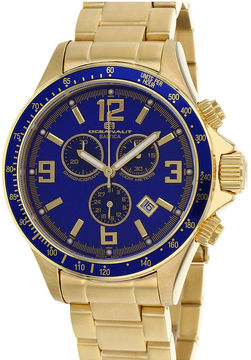 Oceanaut Mens Baltica Blue Dial Gold-Tone Stainless Steel Watch
