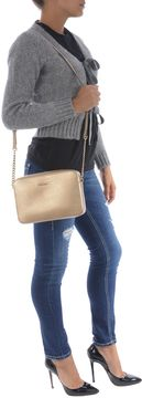 Michael Kors Jet Set Gold Saffiano Shoulder Bag - ORO - STYLE