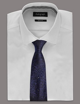 Marks and Spencer Pure Silk Tie MADE WITH SWAROVSKI® ELEMENTS