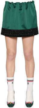 N°21 Embellished Duchesse Mini Skirt