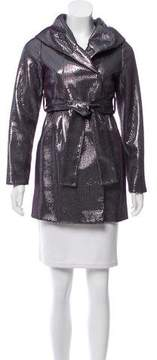 Vivienne Tam Belted Sequined Jacket