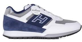 Hogan Men's White/blue Leather Sneakers.