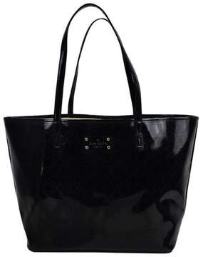 Kate Spade Black Patent Leather Metro Spade Tote - BLACK - STYLE